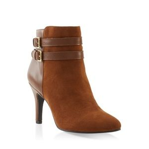 Two Buckle Pointed Toe Booties